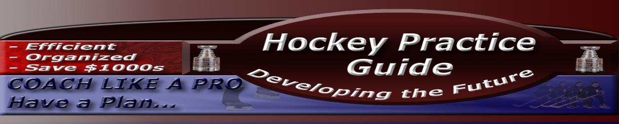 Hockey Practice Guide provides Hockey Coaches Multi-Station layout drills for hockey practices to maximize hockey player skills and coaching efficiency