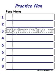 Hockey Practice Guide for Hockey Coaches to assist in providing structured hockey practices to maximize hockey player skills and coaching efficiency